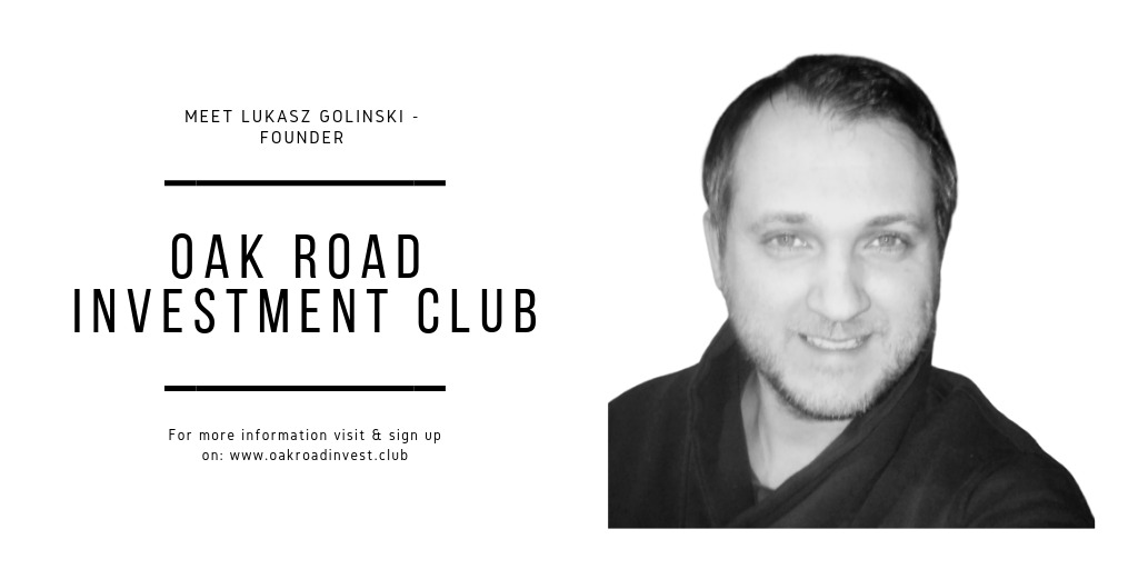 "Lukasz Golinski - Founder of the ""Oak Road Investment Club""."