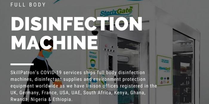 COVID-19 Full Body Disinfection Gate Channel Machine Auto Sanitizer