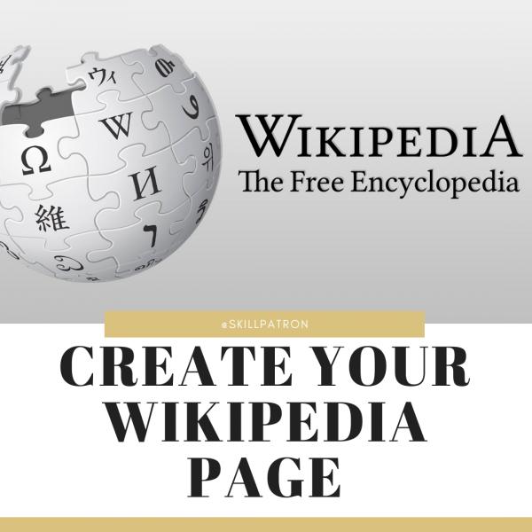 create a wikipedia page