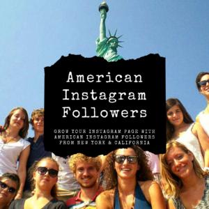 Buy American Instagram Followers from New York & California USA